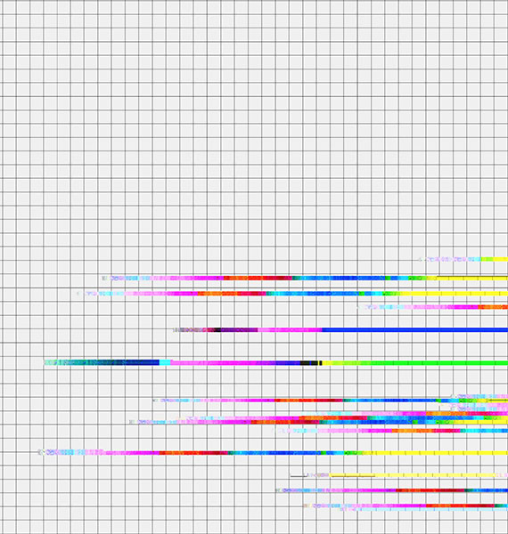 Picture of a glitched grid graphic design print made for Textile Museum contest.